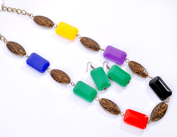Multi Colour Beads Fashion Set