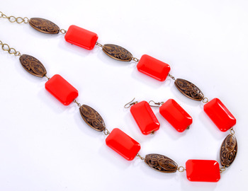 Stone and Beads Fashion Set