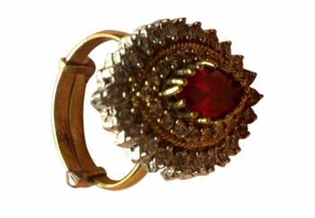 semi precious stones Ruby red Ring