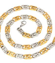 italian stainless steel puzzler two tone chain men 21""