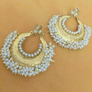 White Cubic Zirconia danglers-drops