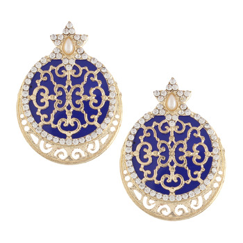 Ethnic Indian Bollywood Fashion Jewelry Set Traditional Earrings