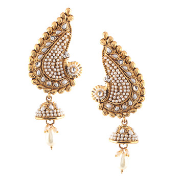 Ethnic Indian Bollywood Fashion Jewelry Set Traditional Cuff Dangler Earrings