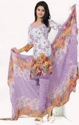 Crepe Dress Material Elegant Designer Unstitched Salwar Suit D.No 7279