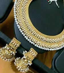 Buy Blue ram leela inspired goddess Lakshmi motif ginni coin earring j20b necklace-set online