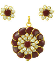 Buy Pacchi Pachi Indian Bollywood Jewelry Set Floral Pendant Set Pendant online