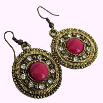 Pink & Copper earrings