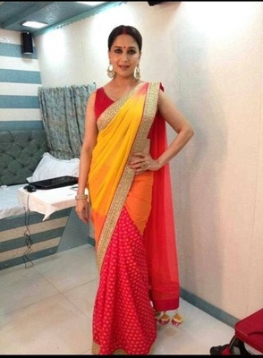 Red Yellow Saree