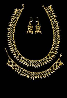Just Women - Exquisite Gold Dip Necklace, Earring and Bracelet Set