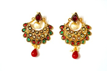 Classic Antique look multi colour earings