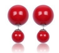 Red double side earrings