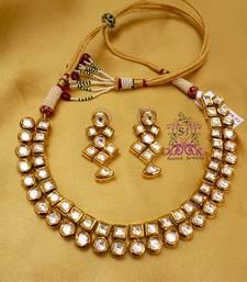 Buy Kundan Meena Elegant Necklace eid-jewellery online
