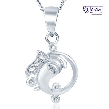 Sukkhi Marvellous Rodium plated CZ God pendants