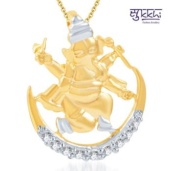 Sukkhi Incredible Gold and Rhodium Plated CZ God pendants