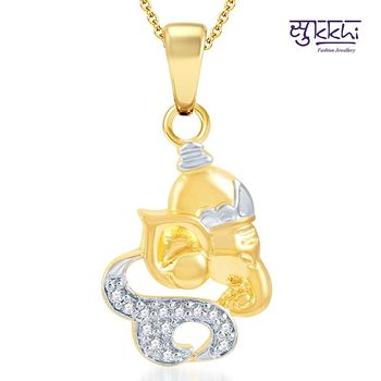 Sukkhi Lavish Gold and Rhodium Plated CZ God pendants