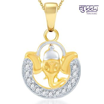 Sukkhi Estonish Gold and Rhodium Plated CZ God pendants