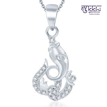 Sukkhi Attractive Rodium plated CZ God pendants