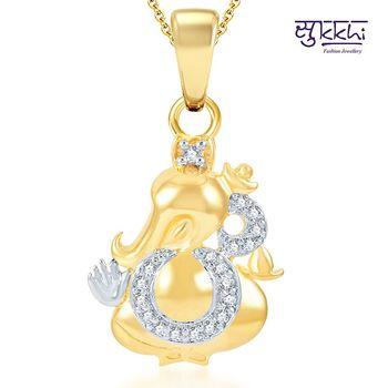 Sukkhi Modern Gold and Rhodium Plated CZ God pendants
