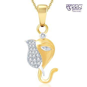 Sukkhi Youthful Gold and Rhodium Plated CZ God pendants