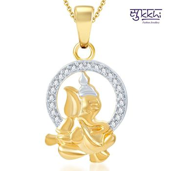 Sukkhi Stylish Gold and Rhodium Plated CZ God pendants