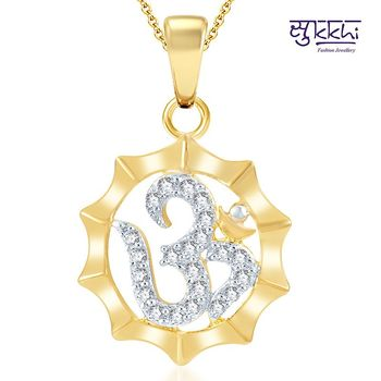 Sukkhi Moddish Gold and Rhodium Plated CZ God pendants