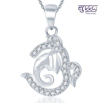 Sukkhi Marvelous Rodium plated CZ God pendants