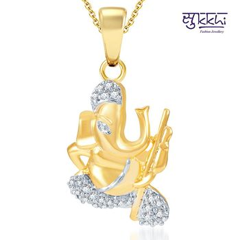 Sukkhi Pleasing Gold and Rhodium Plated CZ God pendants