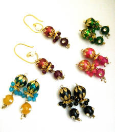 Multicolour Changeable Beads Earring