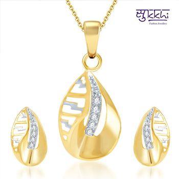 Sukkhi Youthful Gold and Rhodium Plated CZ pendants Set