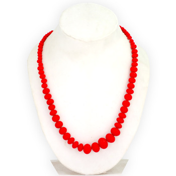Red crystal beads with Jaipur locket