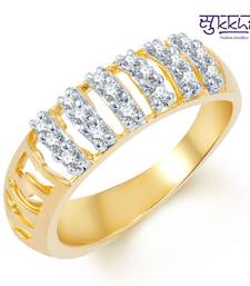 Buy Sukkhi Enchanting Gold and Rhodium Plated CZ Ring Ring online