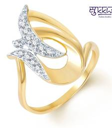 Buy Sukkhi Fascinating Gold and Rhodium Plated CZ Ring Ring online