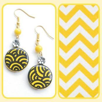 Trible Print earrings