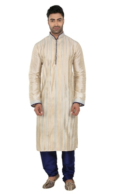 Complete  Pintucks  And  Corded Kurta With Contrasting Button  And  Piping On The  And  The Sleeves