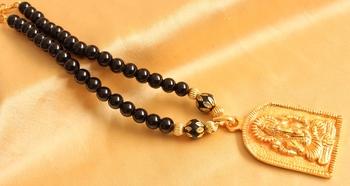 Gorgeous Antique Designer Ganesha Pendant Black Necklace