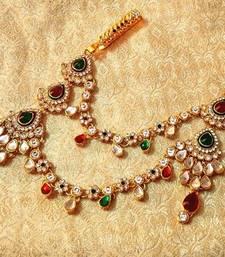 Buy Designer kundan juda keychain waist belt kamarband wedding jewellery key-chain online
