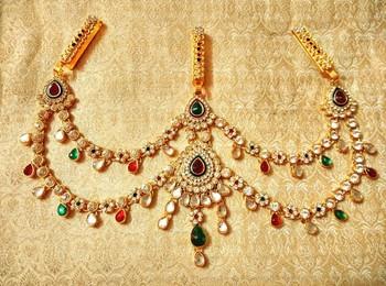 Designer kundan triple juda waist belt kamarband wedding jewellery