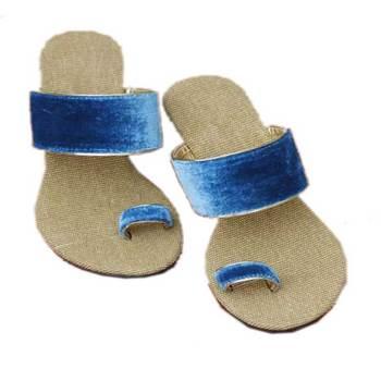 Turquoiseplain Jute Open Sandal heels