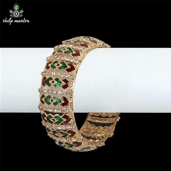 Dazzling Bangle Studded With Stones & American Diamonds
