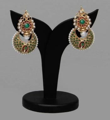 Royal ethnic earring