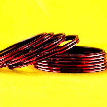 metal maroon colour bangle size-2.4,2.6,2.8