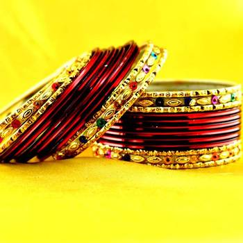 multi coulour brass rajasthani bangle