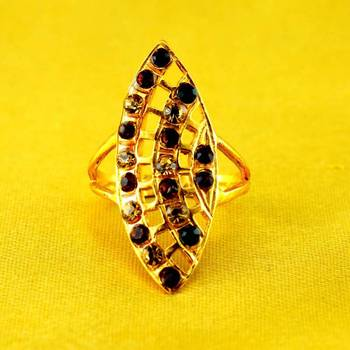 ring gold platted stone
