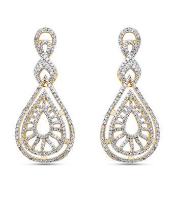 Diamond Look Zircon Earrings