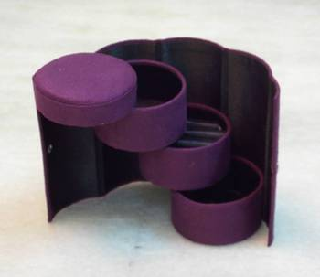 Rakhi gift new fashion cylindrical jewelry box ::Cosmetic box gift box for jewelry case