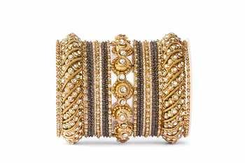Black zircon bangles-and-bracelets
