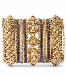 Buy Black zircon bangles-and-bracelets diwali-jewellery online