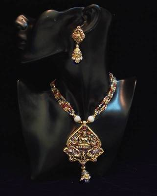 Lakshmiji antique traditional temple jewellery