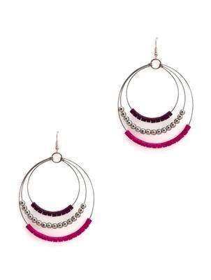 ART MANNIA round Earrings- PINK
