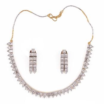 buy simple amp elegant american diamond necklace set online